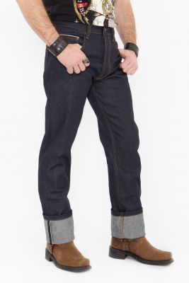 King Kerosin Jeans - Red Selvedge 14 oz./ dunkelblau