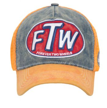 Trucker Cap von King Kerosin - FTW / Forever two Wheels - Orange