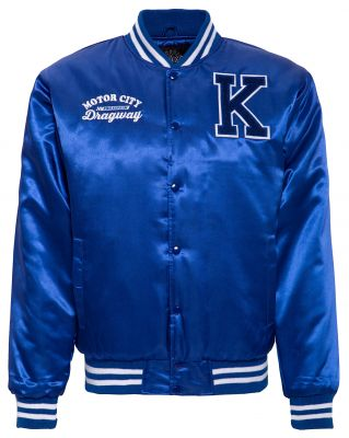 College Satin Jacket - Dragway / blue